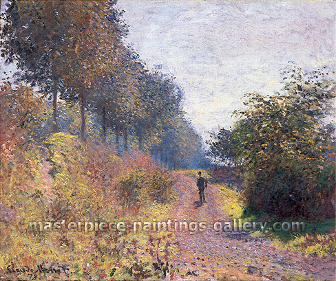 Claude Monet, The Sheltered Path, 1873, (W 288), oil on canvas, 21.5 x 25.8 in. / 54.5 x 65.5 cm, US$375