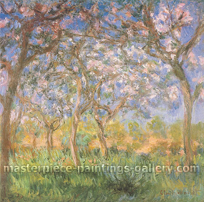 Claude Monet, Spring | Spring at Giverny | Le Printemps, Giverny  (W 1620), 1900, oil on canvas, 35.4 x 36.2 in. / 90 x 92 cm, US$520