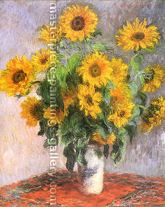Claude Monet, Sunflowers (W 628), 1881, oil on canvas, 39.8 x 32 in. / 101 x 81.3 cm, US$560