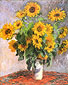 Claude Monet, Sunflowers (W 628), 1881, oil on canvas, 39.8 x 32 in. / 101 x 81.3 cm, US$320