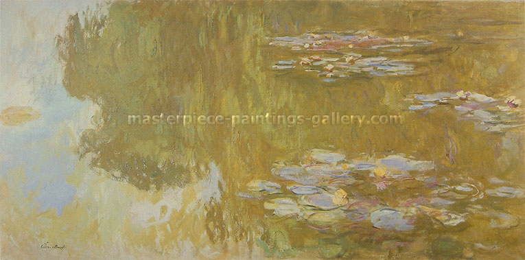 Claude Monet, The Water-Lily Pond, 1917-19, oil on canvas, 29.5 x 59.1 in. / 75 x 150 cm, US$540