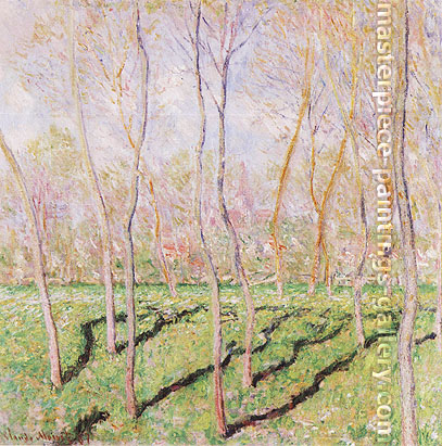 Claude Monet, Trees in Winter, View of Bennecourt | Arbres en Hiver, Vue sur Bennecourt, 1887, oil on canvas, 31.9 x 31.9 in. / 81 x 81 cm, US$440