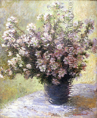 Claude Monet, Vase of Flowers (W 628), 1880, oil on canvas, 39.4 x 31.9 in. / 100 x 81 cm, US$375