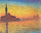 Claude Monet, Venice at Dusk | Church of San Giorgio Maggiore by Twilight | Crepuscule a Venise (W 1769), 1908, oil on canvas, 28.7 x 36.2 in. / 73 x 92 cm, US$330