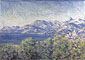 Claude Monet, View of Ventimiglia (W 878), 1884, oil on canvas, 25.6 x 36.1 in. / 65.1 x 91.7 cm, US$330