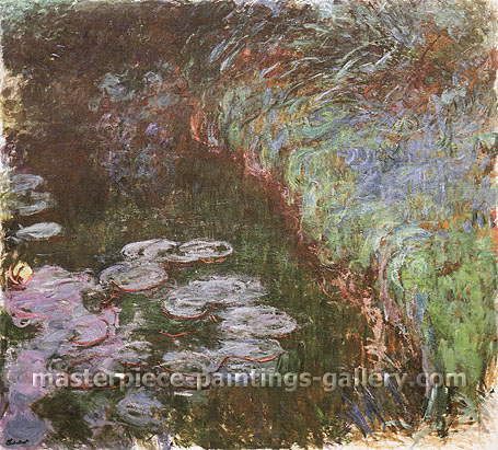 Claude Monet, Water Lilies, 1914 (W 1815), oil on canvas, 42.5 x 47.2 in. / 108 x 120 cm, US$460