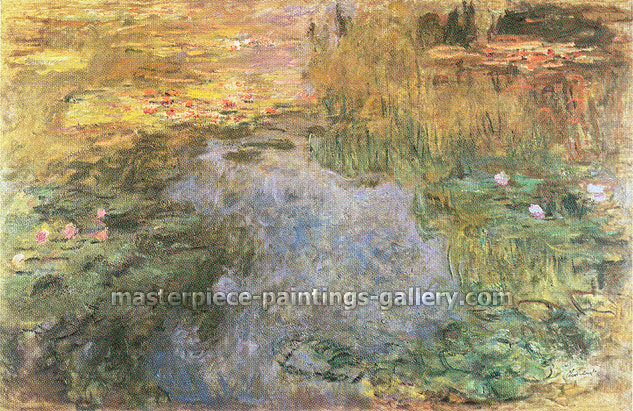 Claude Monet, Nympheas | Water Lilies, 1919, oil on canvas, 18.8 x 28.8 in. / 47.8 x 73.2 cm, US$290