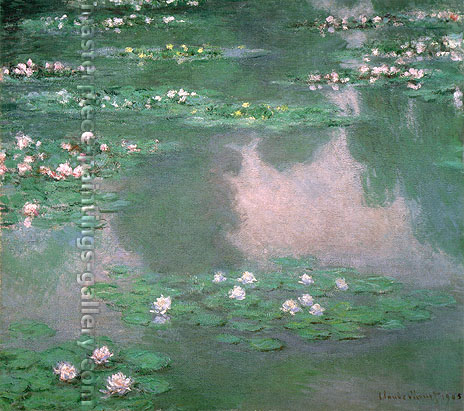 Claude Monet, Water Lilies, 1905, W 1671, oil on canvas, 42.8 x 48 in. / 108.8 x 121.9 cm, US$390
