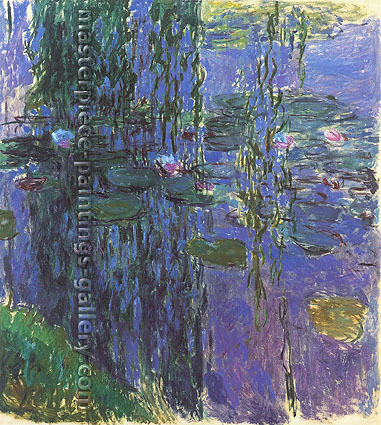 Claude Monet, Willow Fronds and Nypheas | Water Lilies, 1916, (W 1850) oil on canvas, 78.7 x 70.9 in. / 200 x 180 cm, US$650