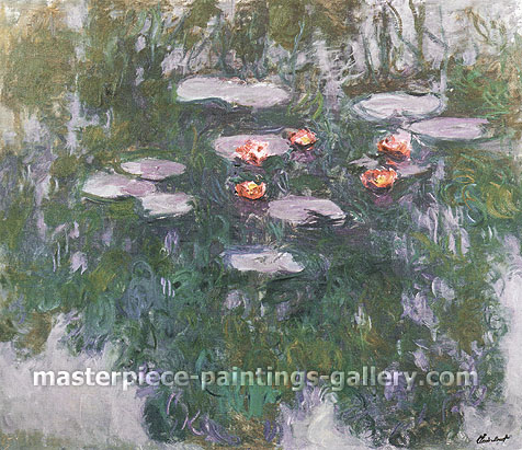 Claude Monet, Water-Lilies 8, 1916-19, oil on canvas, 51.2 x 59.8 in. / 130 x 152 cm, US$500
