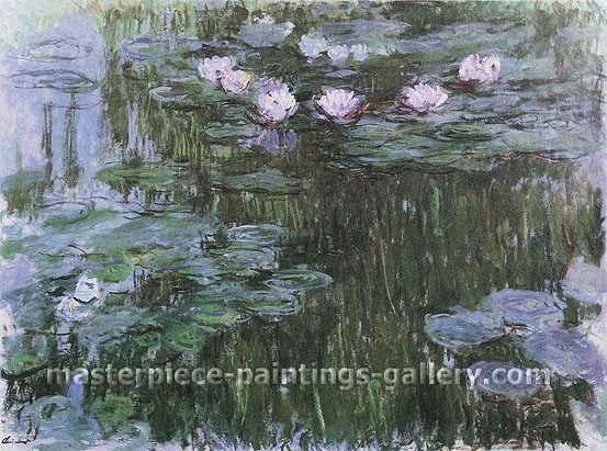 Claude Monet, Water Lilies, 1914, (W 1791) oil on canvas, 35.4 x 47.2 in. / 90 x 120 cm, US$420
