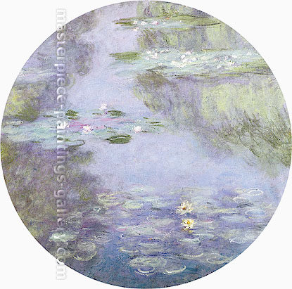 Claude Monet, Water Lilies, 1908 (larger), oil on canvas, 35.4 x 35.4 in. / 90 x 90 cm, US$500