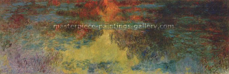 Claude Monet, Water Lilies (Evening), 1920, oil on canvas, 39.4 x 59.1 in. / 100. x 150 cm, US$900