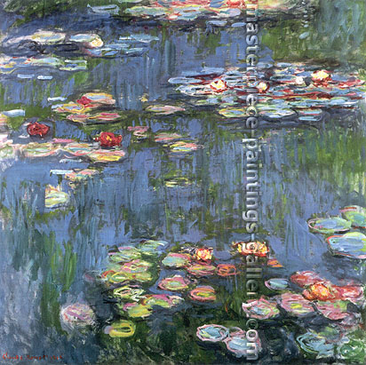 Water Lilies, 1916, (W 1800) oil on canvas, 48 x 48 in. / 121.9 x 121.9 cm, US$640
