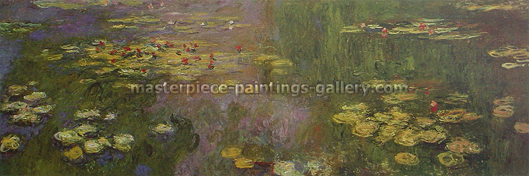 Claude Monet, Water Lilies Garden, 1922, oil on canvas, 19.6 x 59.1 in. / 49.8 x 150 cm, US$900