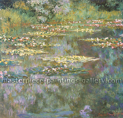 Claude Monet, The Water Lily Pond | Water Lilies | Nympheas | Ninfeas (W 1666), 1904, oil on canvas, 35.1 x 36.3 in. / 89.2 x 92.3 cm, US$530