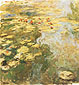Claude Monet, Water-Lily Pond, 1917-19, oil on canvas, 38.4 x 59.1 in. / 97.5 x 150 cm, US$500