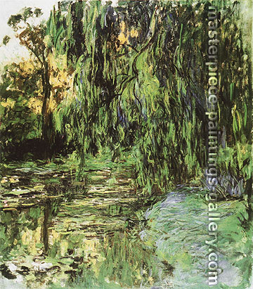 Claude Monet, View of Water-Lily Pond with Willow Tree, 1918, oil on canvas, 51.2 x 35.4 in. / 130 x 90 cm, US$720