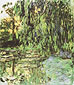 Claude Monet, View of Water-Lily Pond with Willow Tree, 1918, oil on canvas, 51.2 x 35.4 in. / 130 x 90 cm, US$500