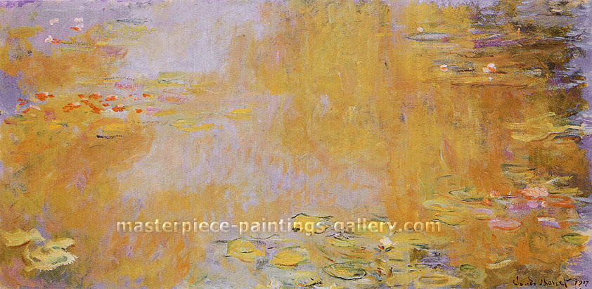 Claude Monet, Waterlilies, 1917, oil on canvas, 17.1 x 34.8 in. / 43.3 x 88.3 cm, US$330