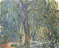 Claude Monet, Weeping Willow | Saule pleureur (W 1874), 1918, oil on canvas, 39.4 x 47.2 in. / 100 x 120 cm, US$480