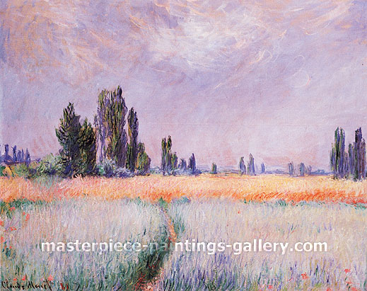 Claude Monet, The Wheat Field, 1881, oil on canvas, 25.8 x 32 in. / 65.5 x 81.3 cm, US$400