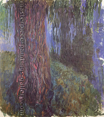 Claude Monet, Water Lily Garden with Weeping Willow | Willow Tree and Water Lily Pond, 1916, W 1848, oil on canvas, 39.4 x 35.4 in. / 100 x 90 cm, US$550