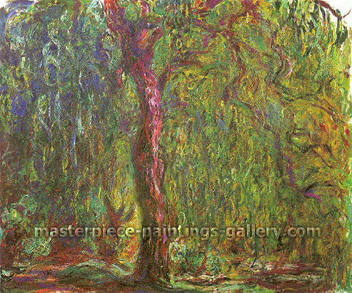 Claude Monet, Weeping Willow | Saule Pleureur, 1919 (W 1875), oil on canvas, 39.4 x 47.2 in. / 100 x 120 cm, US$720