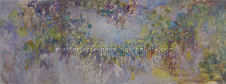 Claude Monet, Wisteria, 1919-20, (W 1906-7) oil on canvas, 44.1 x 59.1 in. / 112.1 x 150 cm,US$900