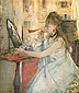 Berthe Morisot, Young Woman Powdering Herself, 1877, oil on canvas, 18 x 15.25 in. / 45.7 x 38.7 cm, US$260
