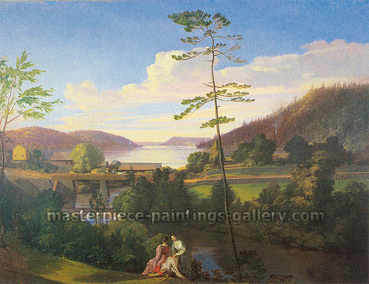 Samuel F. B. Morse, View from Apple Hill, Cooperstown, New York, 1829, oil on canvas, 22 x 29 in. /55.9 x 73.7 cm, US$290