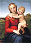 Raphael | Raffaello Sanzio, Madonna and Child | Small Cowper Madonna, 1505, oil on canvas, 32 x 23.7 in. / 81.3 x 60.2 cm, US$430