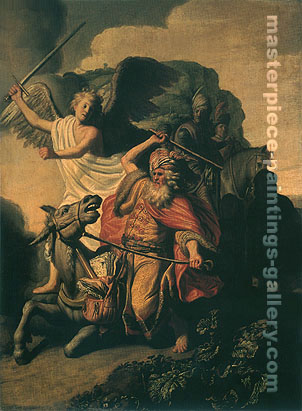 The Ass of Balaam Balking before the Angel, 1626, oil on canvas, 32 x 23.5 in / 81.3 x 59.8 cm, US$320