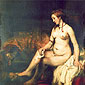 Rembrandt van Rijn, Bathsheba, 1654, oil on canvas, 56 x 56 in. / 142.2 x 142.2 cm, US$560
