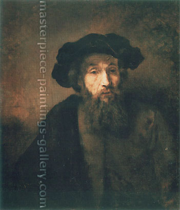 Rembrandt van Rijn, A Bearded Man in a Cap, 1657, oil on canvas, 30.7 x 26.3 in. / 78 x 66.7 cm, US$300