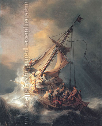 Rembrandt van Rijn, Christ in Storm on Lake of Galilee, 1633, oil on canvas, 32 x 25.6 in / 81.3 x 65 cm, US$430