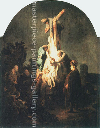 Rembrandt van Rijn, The Descent from the Cross, 1633, oil on canvas, 35 x 25.6 in. / 89 x 65 cm, US$350