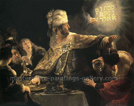 The Feast of Belshazzar, 1635, oil on canvas, 25.6 x 32 in / 64.9 x 81.3 cm, US$320