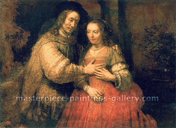 Rembrandt van Rijn, The Jewish Bride, 1665, oil on canvas, 48 x 65.5 in. / 121.9 x 166.4 cm, US$640