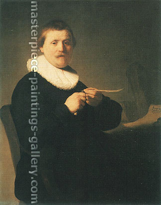 Rembrandt van Rijn, A Man Sharpening a Quill, 1632, oil on canvas, 40 x 32.1 in. / 101.5 x 81.5 cm, US$400