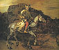 Rembrandt van Rijn, The Polish Rider,1655, oil on canvas, 46 x 53.1 in. / 116.8 x 134.9 cm, US$675