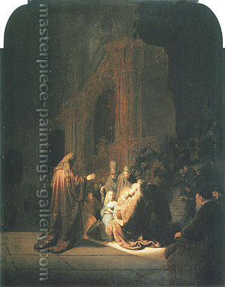 Rembrandt van Rijn, The Presentation of Jesus in the Temple, 1631, oil on canvas, 24 x 18.8 in. / 60.9 x 47.8 cm, US$275