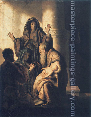 Rembrandt van Rijn, The Presentation of Jesus in the Temple, 1627-28, oil on canvas, 29.4 x 23.2 in. / 74.8 x 59 cm, US$300