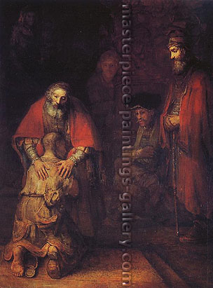 Rembrandt van Rijn, Return of the Prodigal Son, 1668, oil on canvas, 121.9 x 95.5 cm, US$640