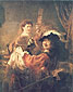 Rembrandt van Rijn, Rembrandt and Saskia in the Scene of the Prodigal Son in the Tavern, 1635, oil on canvas, 63.4 x 51.6 in. / 161 x 131 cm, US$620