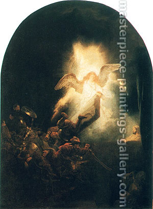 Rembrandt van Rijn, The Resurrection of Christ, 1635-39, oil on canvas, 36.2 x 26.4 in. / 91.9 x 67 cm, US$370