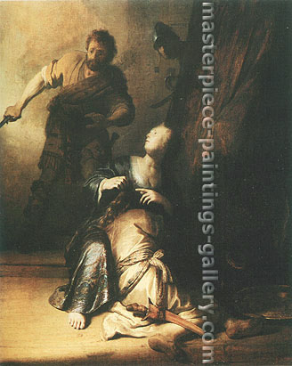 Rembrandt van Rijn, Samson Betrayed by Delilah, 1629, oil on canvas, 32.6 x 26.6 in. / 82.8 x 67.6 cm, US$375
