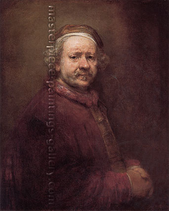 Rembrandt van Rijn, Self-Portrait, 1669, oil on canvas, 33.9 x 27.8 in. / 86 x 70.5 cm, US$330