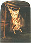 Rembrandt van Rijn, The Slaughtered Ox, 1655, oil on canvas, 37 x 27.2 in. / 94 x 69 cm, US$360
