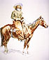 Frederic Remington, Arizona Cowboy, 1901, oil on canvas, 31.2 x 25.7 in. / 79.2 x 65.4 cm, US$300